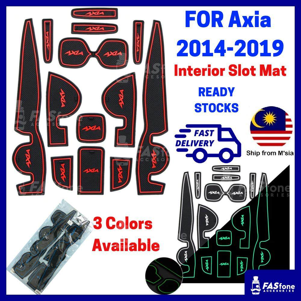 (msia Ready Stocks) Axia 2014 2019 Perodua Axia Mat Axia Interior Slot Mat By Fasfone Accessories.