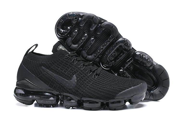 4272fad0415 Nike Official Air VaporMax Flyknit 2019 Low Top WOMEN Running Shoe Black  Grey Sneakers