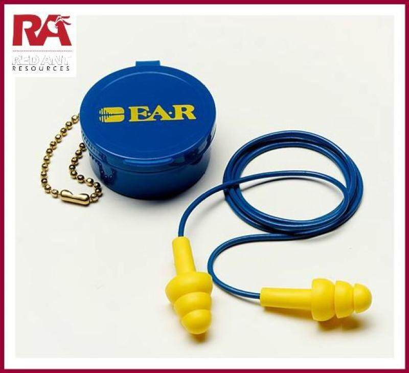 [3 PAIR] 3M 340-4002 E-A-R ULTRAFIT PREMOLDED REUSABLE EARPLUGS WITH CASING