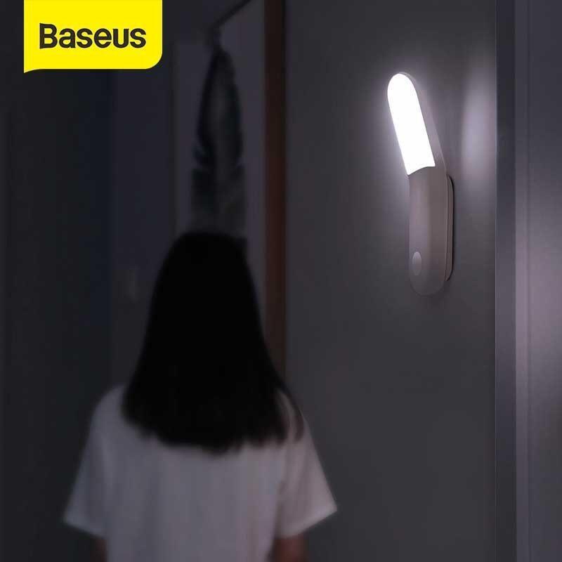 Đèn Ngủ LED Baseus, Đèn Trang Trí Cảm Biến Chuyển Động Thông Minh PIR, Dùng Cho Văn Phòng, Giường Ngủ, Cơ Thể Con Người, Đèn Ngủ Cảm Ứng Chuyển Động