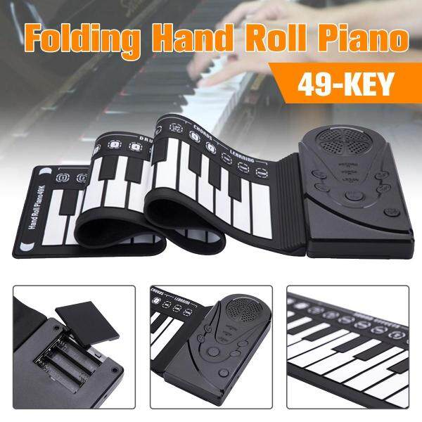 49-key Folding Hand Roll Piano Portable Entry Keyboard Student Children Beginner Electronic Hand Roll Piano - Malaysia