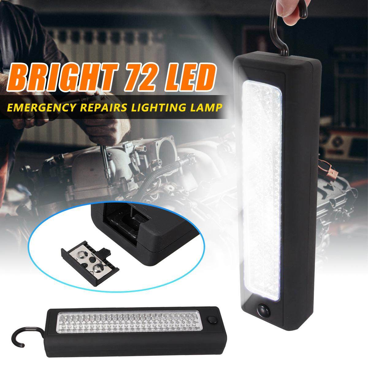 Magnet Hook 72 LED Work Light Car Carage Inspection Flexible Torch Lamp Outdoor