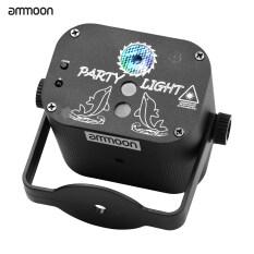 AMMOON Đèn chiếu sân khấu mini IGB-T818 có điều khiển từ xa, kích hoạt bằng tiếng động, kết nối qua cổng USB – INTL