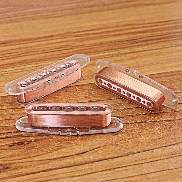 6Pcs Plastic 6 Strings Guitar Bridge Pickup Bobbins 52mm Pole Spacing for Electric Guitar Custom Pickup Malaysia