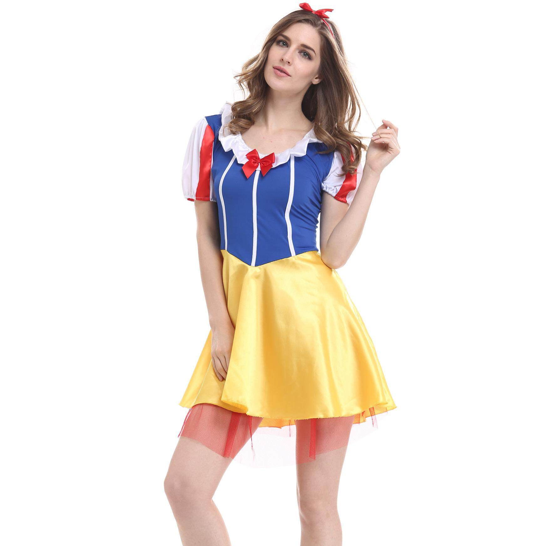 Nature Star Adult Sexy Fairytale Snow White Halloween Masquerade Ladies Fancy Dress Costume
