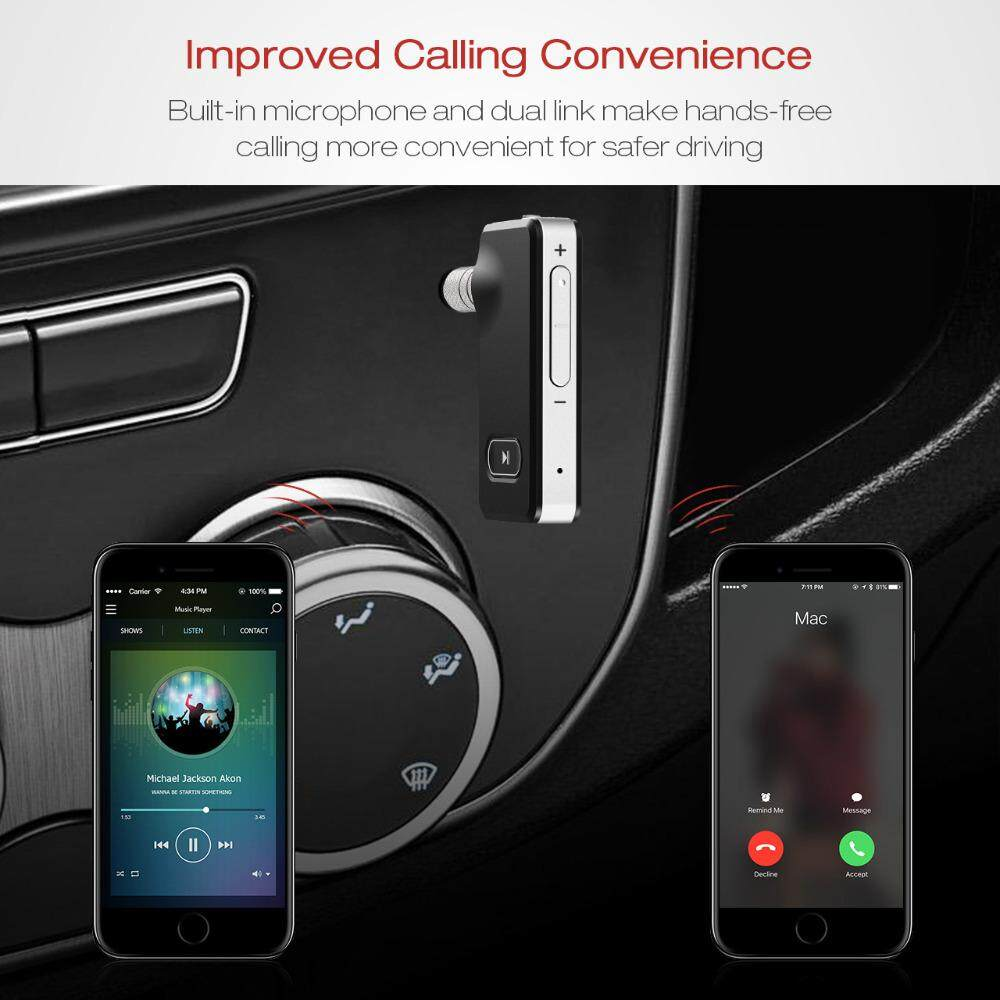 MPOW Bluetooth Wireless 4.1 Receiver Handsfree  3.5mm Adapter Car Kit for iPhone