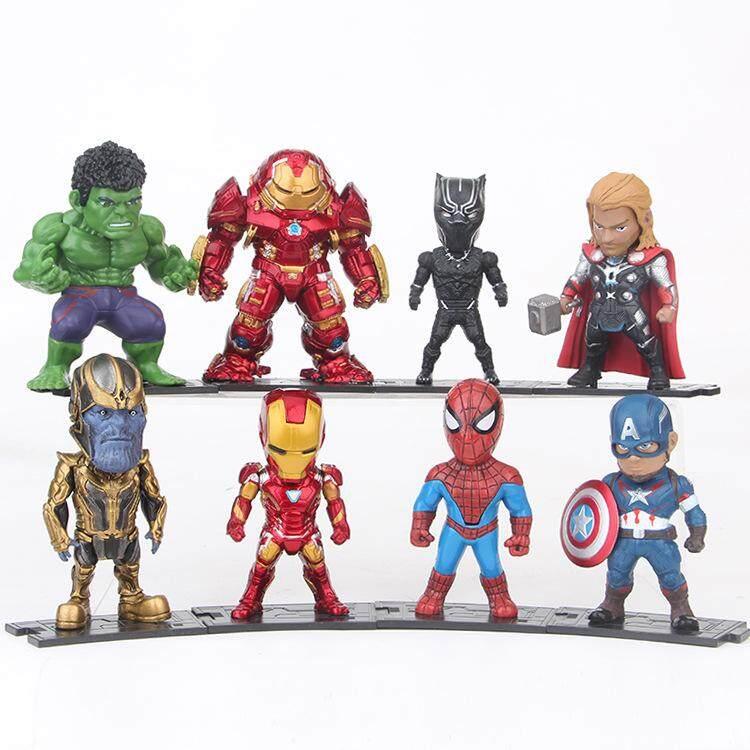 8pcs The Avengers 3 Infinity War Thanos Hulk Iron Man Spiderman Pop Pvc Action Figures Superheroes Figurines Dolls Set Kids Toys By Hi Toy.