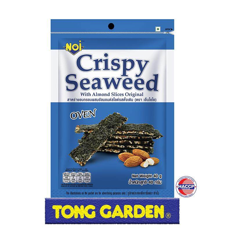 NOI Seaweed with Almond Slices Original 40g