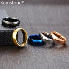 Kemstone 6 Mm Nhẫn Thép Không Gỉ Đơn Giản Phụ Nữ Đàn Ông Nhẫn Trang Sức Unisex