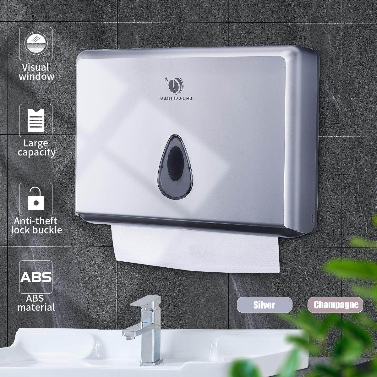 3 Colors Toilet Paper Towel Dispenser Tissue Box Holder Wall Mounted Bathroom .