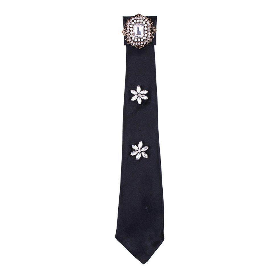 Best Sellers Pearl Bow Tie Buckle Ribbon Fabric Ties Fake Detachablelong Neck Tie Woman By Beau-Store512.
