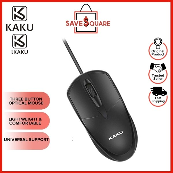 IKAKU KAKU YUANTU Series 1.2M USB Optical Wired Mouse Three Button High Sensitivity 3D Grid Roller Smooth Scrolling Gaming Office Home Use Windows Pc Laptop Tablet MSI DELL ACER ASUS HP LENOVO Malaysia