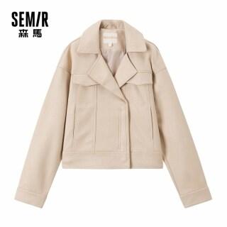 Semir Jaket Fesyen Cổ Áo Ngắn Bẻ Cổ Ngắn Da Lộn Saiz Besar Longgar Giả Hàn Quốc thumbnail