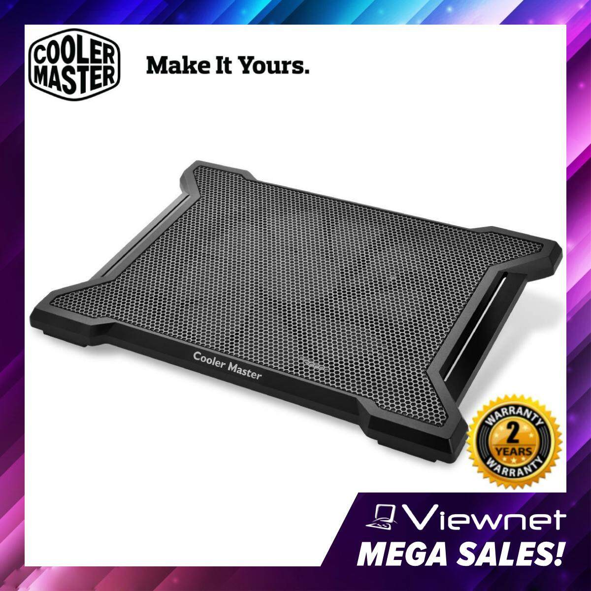 Cooler Master Notepal X-SLIM II 200mm Silent Fan Ergonomic Mesh USB 2.0 Gaming Notebook Cooler for up to 15.6 Laptop (R9-NBC-XS2K-GP) Malaysia