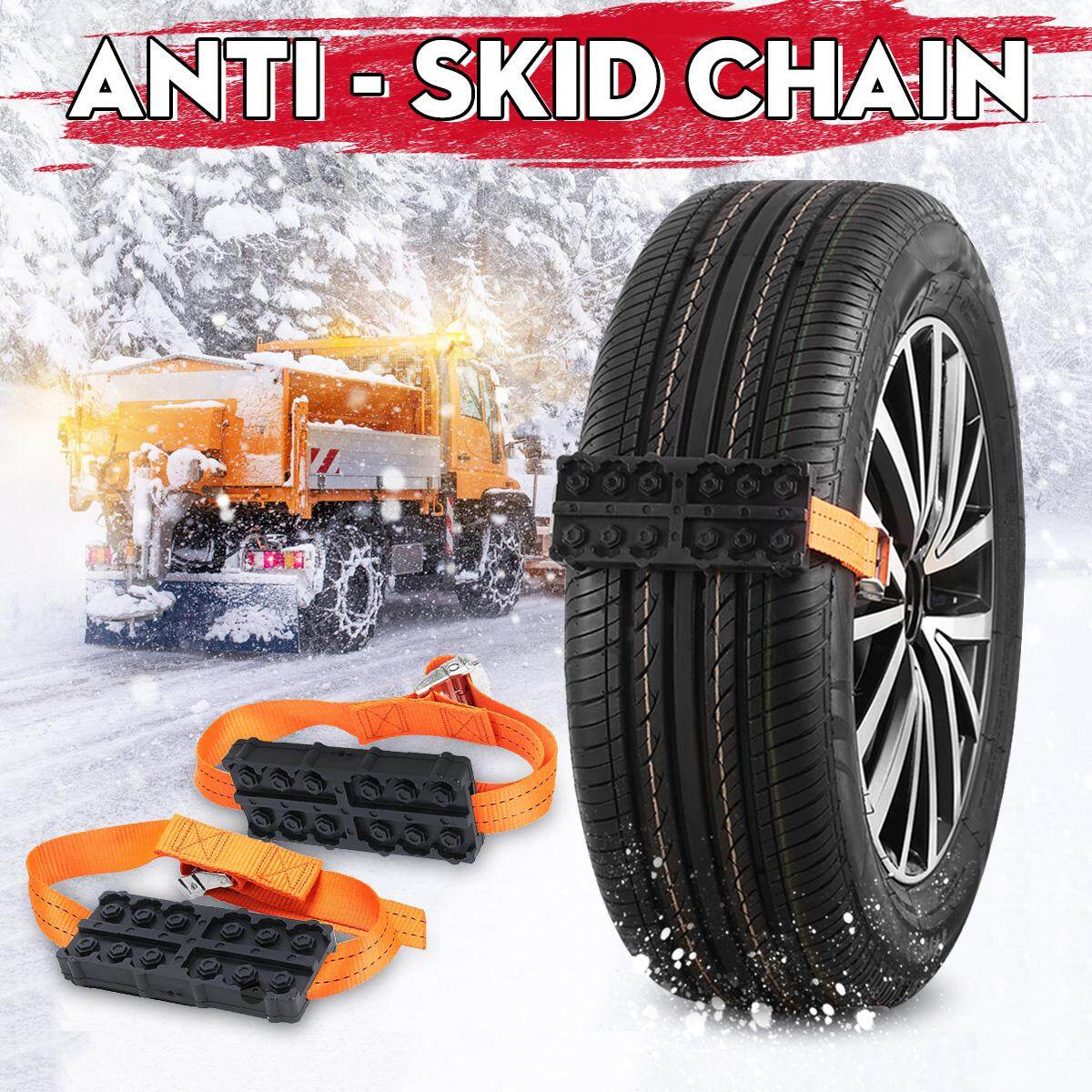 Winter Goods Beautiful Spikes For Tire Plastic Snow Chains Snow Chains For Car Wheels Winter Mud Tires Protection Chain Automobiles Roadway Safety Snow Chains