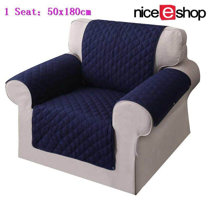 niceEshop Non-Slip Washable Waterproof Chair Covers Sofa Cover Protector Quilted Couch Protector(1 Seat)