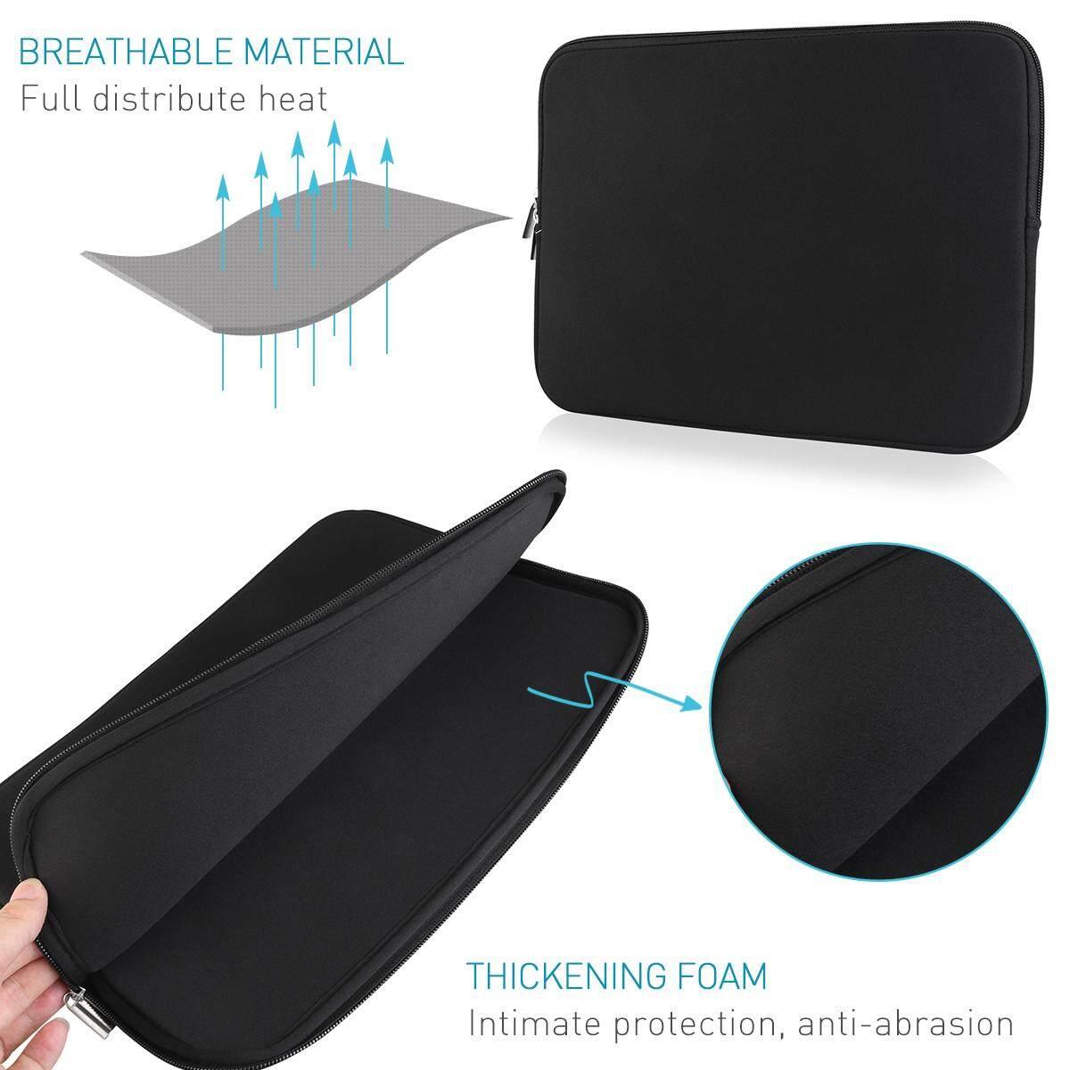 Laptop Sleeve Case Membawa Casing untuk 13 Inch Macbook Mac Air/Pro/Retina (Hitam)-Intl