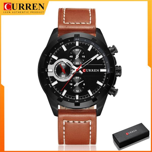 Fashion CURREN Mens Watches Luxury Brand High Quality Leather Quartz Watch Men Waterproof Wristwatch 8216 Malaysia