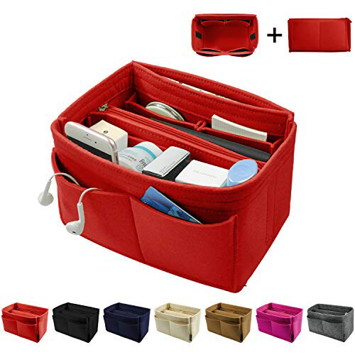 Smartconnกระเป๋าสักหลาดเฟ็ลทorganizer,กระเป๋าแบ่งช่องแทรก,กระเป๋ากระเป๋าถือทรงโทตorganizerที่สมบูรณ์แบบสำหรับspeedy Neverfullและอีกมากมาย.