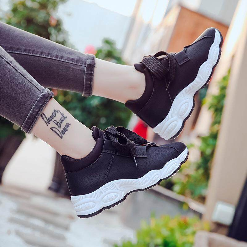 f197fd7c6 2018 fashion new sports shoes women s running shoes Korean version of the  wild thick-soled
