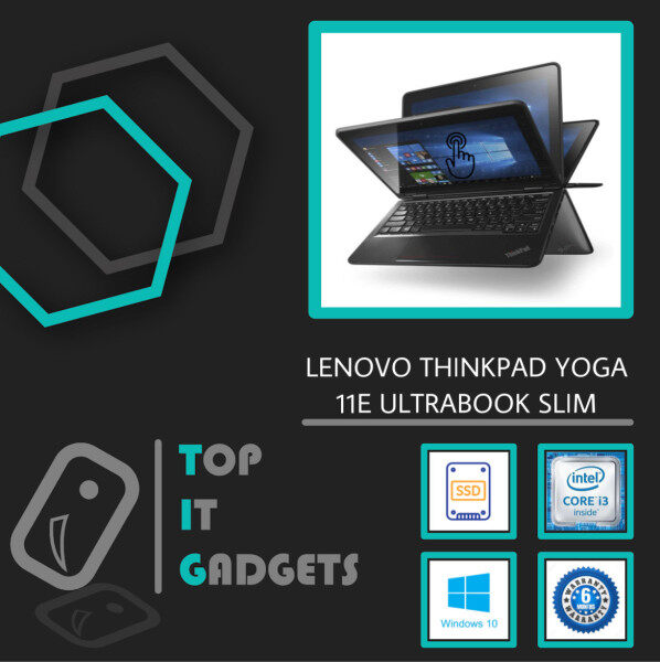 LENOVO THINKPAD YOGA 11E 4IN1 TOUCHSCREEN ULTRABOOK SLIM DESIGN 6TH GENERATION SKYLAKE - INTEL CORE I3 / 8GB DDR3L RAM / 256GB SSD STORAGE / WINDOW 10 PRO / 12 INCH IPS DISPLAY / 6 MONTHS WARRANTY [ LAPTOP ] Malaysia