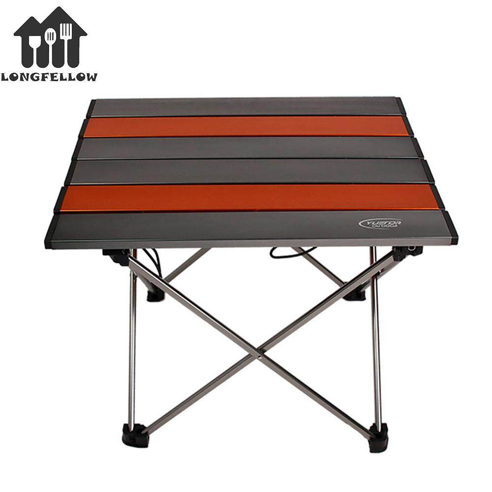Foldable Table Travel Portable Aluminum Folding Desk Table for Outdoor Camping Cooking