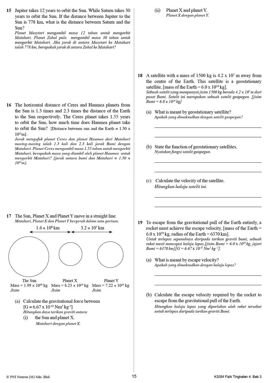 Riang Belajar Kssm Fizik Tingkatan 4 Buku Latihan Topikal Nota Lazada