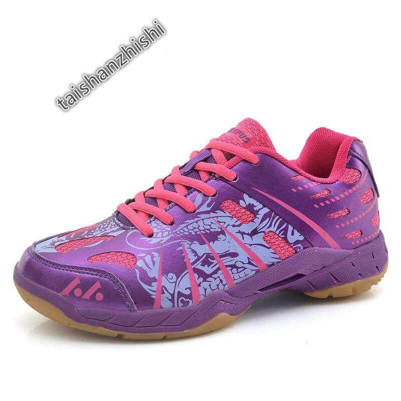 Shoes Original High Elastic Encapsulated Unisex Professional Badminton Shoes (purple) By Taishanzhishi.