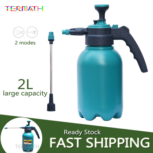 TERMATH 2L Pump Action Pressure Watering Can Water Sprayer for Plant Flowers Watering and Cleaning, with Pressure Relief and Automatic Water Spray Function