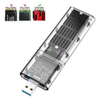 Vỏ SSD M2, Bộ Chuyển Đổi SSD M.2 Sang USB 3.0 Khung Gầm SATA Dành Cho PCIE NGFF SATA Hộp Đĩa SSD Khóa M B Cho 2230 2242 2260 2280MM thumbnail