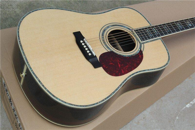 Chinese guitar factory custom new solid spruce top acoustic guitar D type 45 model 41 guitar In stock Can ship immediately 01 Malaysia