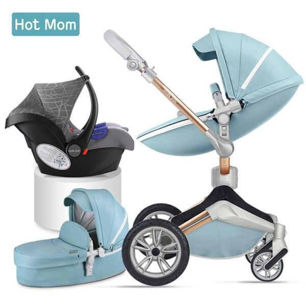 Baby Stroller 3 In 1 Travel System With Bassinet And Car Seat 360° Rotation Function,Luxury Pram F023 Singapore