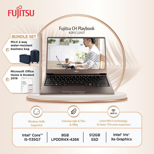 Fujitsu CH 13 4ZR1C22927 Brown Laptop i5-1135G7 8GB-OB 512GB SSD 13.3 FHD W10 + FREE MUJI BAG + MS OFFICE Malaysia