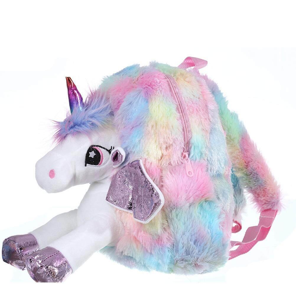 ALOBE Mini Unicorn Plush Backpacks Childrens Schoolbag Plush Toys Girls Kids Gift Small Cartoon Soft Bags