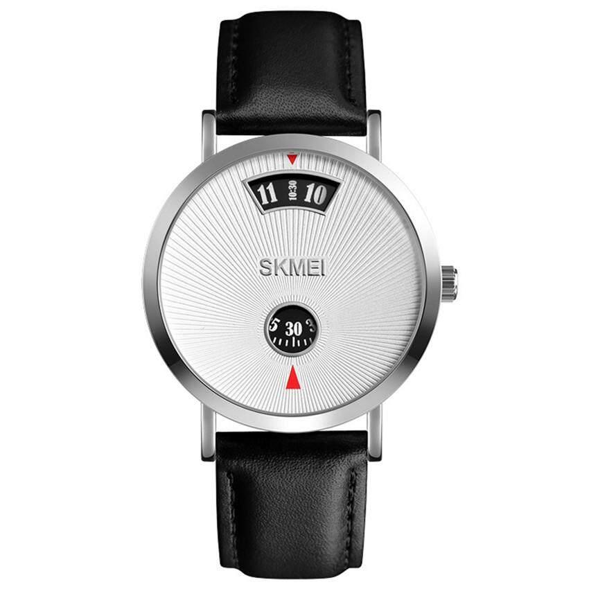 2019 skmei mans business creative watch stainless steel/ leather strap Quartz Simple Mesh Belt wristwatch SBHH0387 Malaysia
