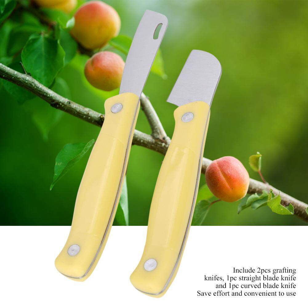 2Pcs High Carbon Steel Grafting Knife Set for Seedlings and Fruit Trees