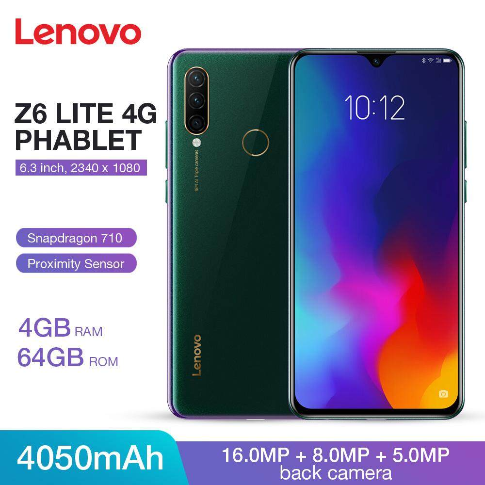 (In Stock) Original Global Version Lenovo Z6 Lite 4G Phablet 6 3 inch  Android 9 0 Snapdragon 710 Octa Core 4GB RAM 64GB ROM 16 0MP + 8 0MP +  5 0MP