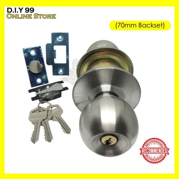 1pcs Cylinder Door Lock / Knob Lock C/W 70mm Back Set