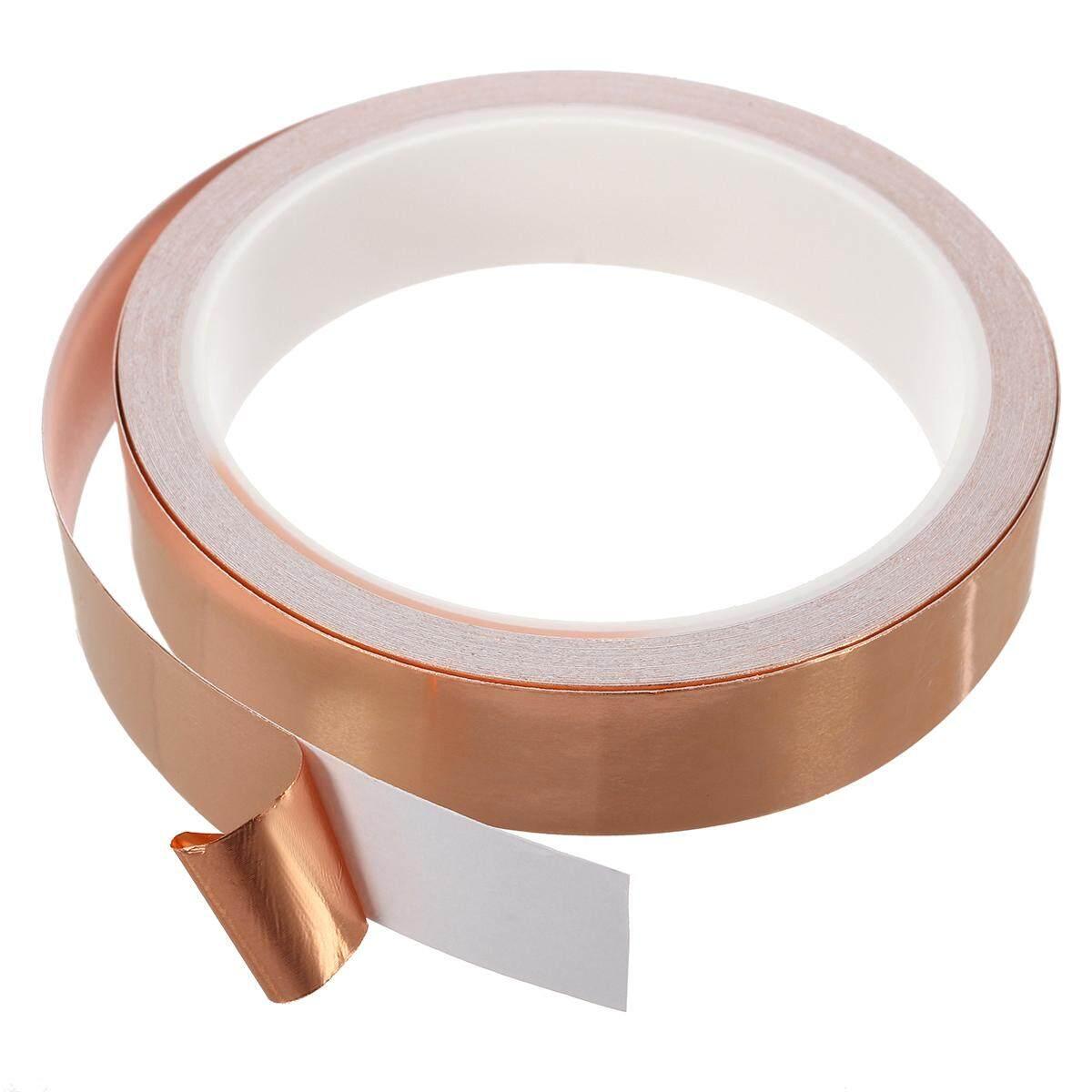 10m 20mm Single-sided Adhesive Conductive Copper Foil Tape Guitar Pickup EMI Shield