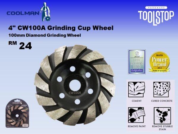Coolman 4 CW100A Grinding Cup Wheel