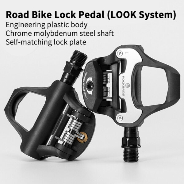Mua ROCKBROS SPD-SL Cycling Road Bike Xe Đạp Tự Khóa Bàn Đạp Siêu Nhẹ Hợp Kim Nhôm 2 Kín Mang Xe Đạp Pedal Bike Phần