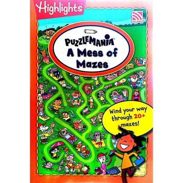 Highlights PUZZLE MANIA Travel-SizeFun on the Go: A Mess of Mazes   Pelangi books Malaysia