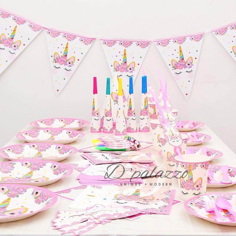 304397aa0732 Unicorn Theme Birthday Party Decoration Set For Bady & Kids Party