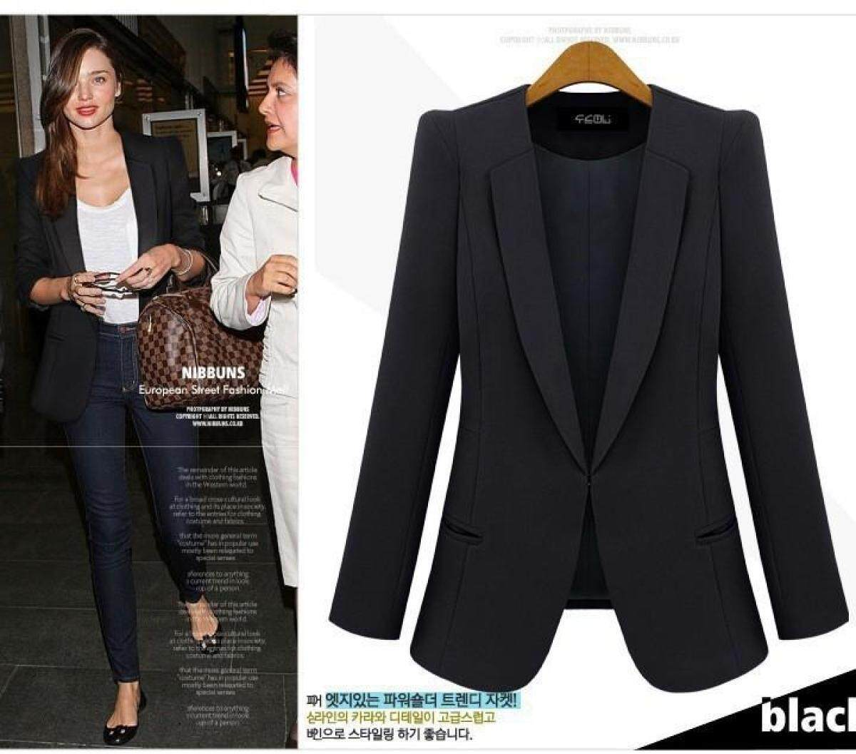 4b5dafc10e07 Plus Size S-4XL Womens Business Suits Spring Autumn All-match Women Blazers  Jackets