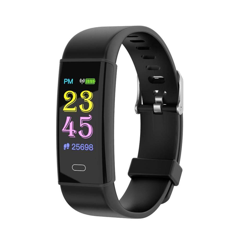 Orzbuy D12 Warna Layar Smart Gelang Wanita Pria Watch, IP67 Olahraga Alat Pengukur Langkah Antiair Tracker dengan Heart Rate Pemantauan Tekanan Darah, informasi Pengingat Panggilan, Kalori Fungsi untuk Android IOS