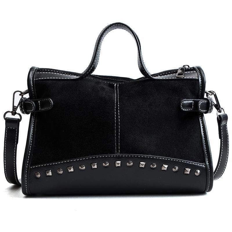 NEW Rivet Chain Bags Faux Leather Suede Crossbody Bags for Women Velvet Large Hand Bag Leopard Print Shoulder Handbags