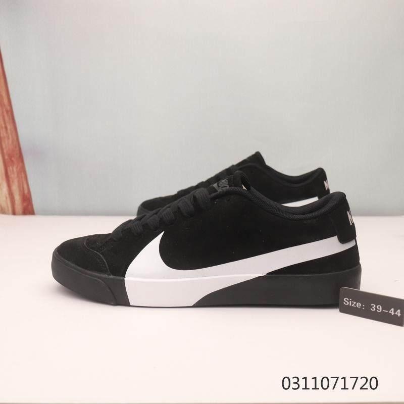 Authentic Nike_Blazer City Low OffWhite Nike_Swoosh Skateboard Shoes Men's Fashion Sneakers