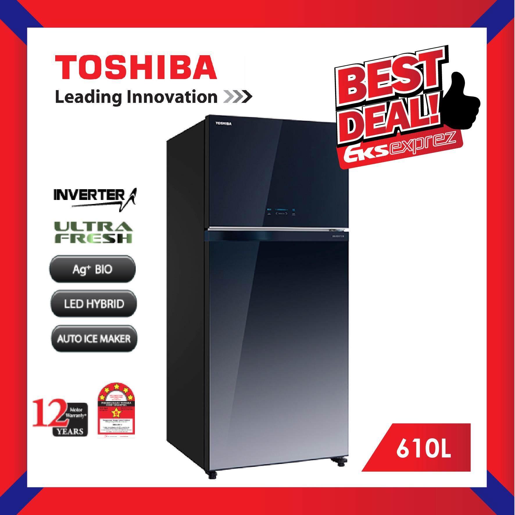 Toshiba GR-AG58MA (GG) 610L 2 Door Duo Hybrid, Inverter Fridge Refrigerator with Ag+ BIO Deodorizer