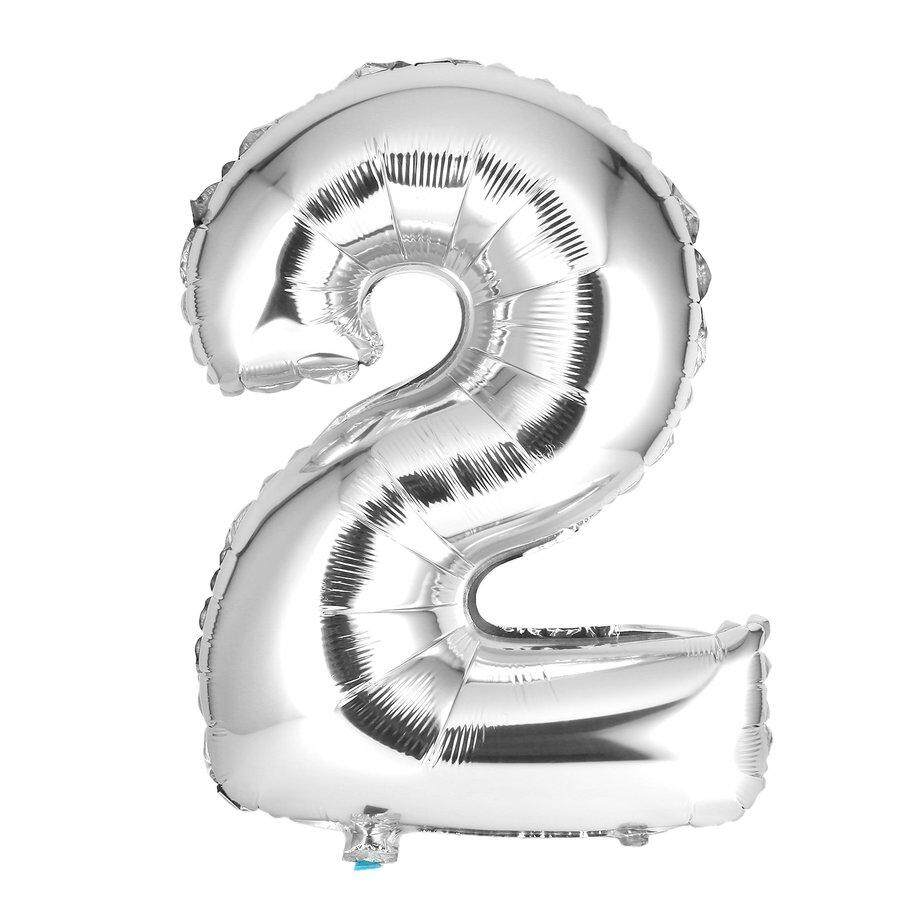 Hot Deals 30 Inches Silver Number Foil Balloons Digit Air Ballons Party Wedding Decor