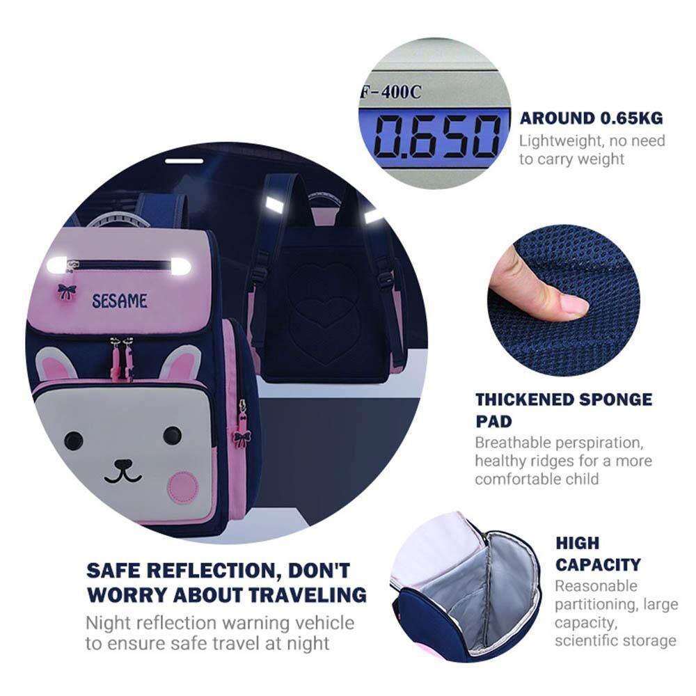 Image 4 for BuyInBulk กันน้ำเด็กกระเป๋าสะพายเด็กหนังสือผ้ากระเป๋าการ์ตูนหมีน่ารัก 3D สเตอริโอ Stamper Design เด็กทนทานกระเป๋านักเรียนกระเป๋าเป้สะพายหลัง